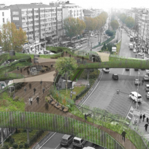 Example of green planning: Fatih Vatan Street, Istanbul, Turkey, via LEA Invent