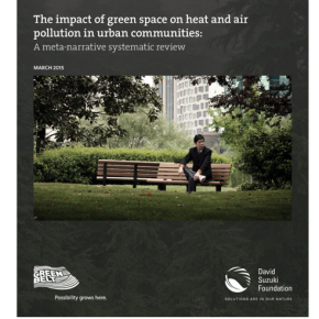Our work with the David Suzuki Foundation shows how urban green space cuts air pollution and cools cities